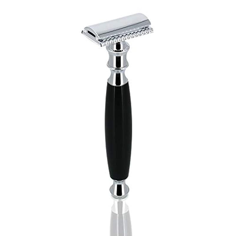 レパートリー委任する小康GRUTT クラシックレイザー 両刃カミソリ 髭剃り 剃刀 ブレード付き …