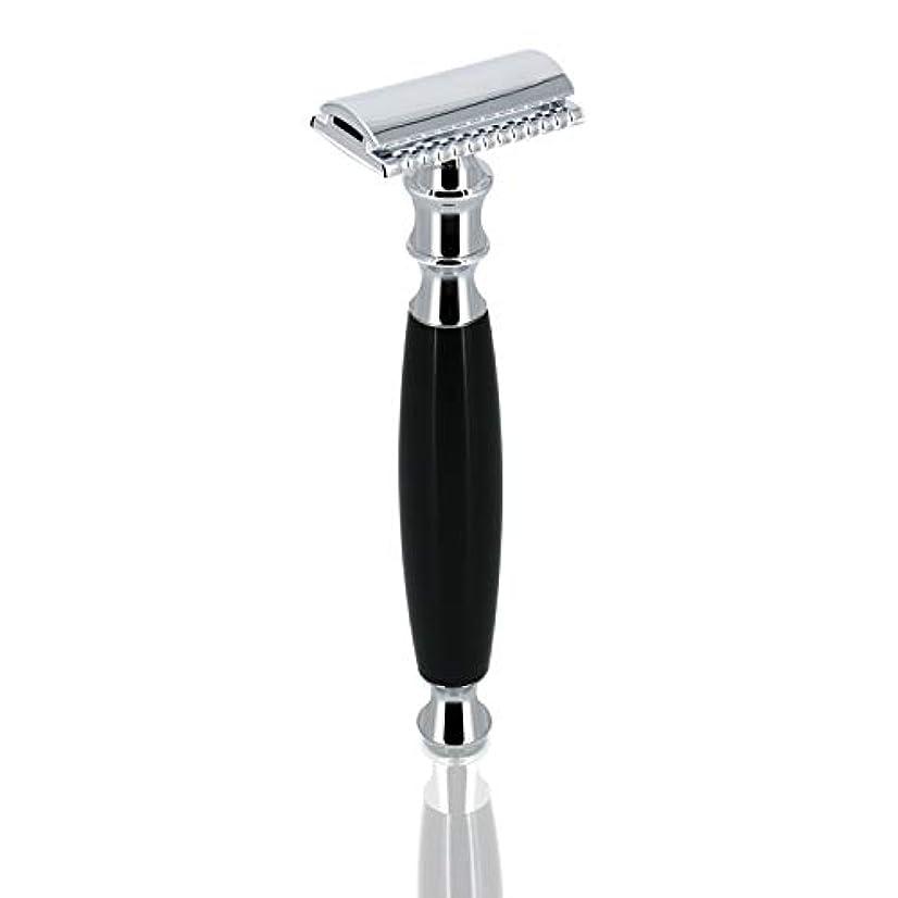 ホイップ刈り取る正義GRUTT クラシックレイザー 両刃カミソリ 髭剃り 剃刀 ブレード付き …