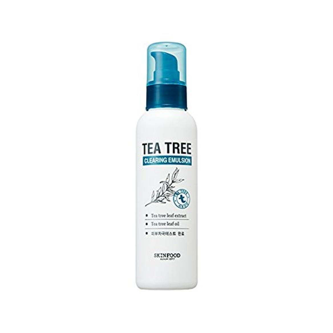 現代不良品脅迫SKINFOOD Tea Tree Clearing Emulsion 135ml/スキンフード ティーツリー クリアリング エマルジョン 135ml [並行輸入品]