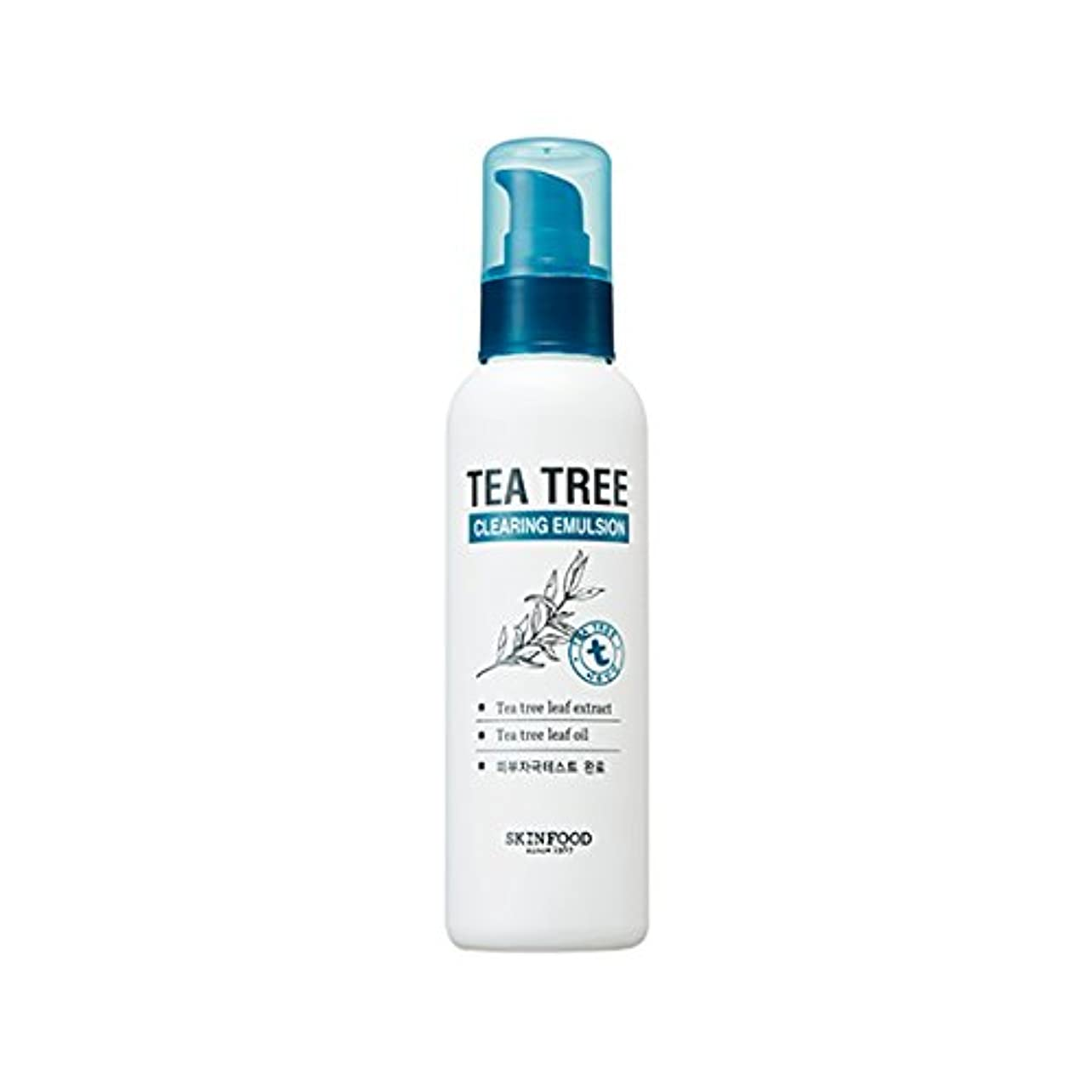 減少ビーチおじさんSKINFOOD Tea Tree Clearing Emulsion 135ml/スキンフード ティーツリー クリアリング エマルジョン 135ml [並行輸入品]