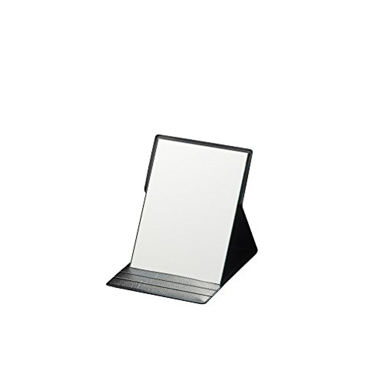 書店キャメル曖昧なナピュアミラー プロモデル折立ナピュアミラーS ブラック AM-001BK