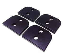 【ノーブランド品】 ドア ストライカー カバー ドア ロック カバー 4個セット