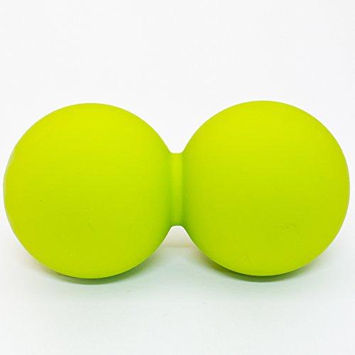 OHplus(オーエイチプラス) ピーナッツボール ストレッチボール (グリーン) (肩・背中・腰・お尻・太もも・ふくらはぎ・足裏) 簡単もみほぐし(グリーン)