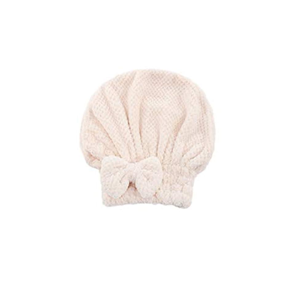 パケット幸福強度HENGTONGTONGXUN ドライヘアキャップ、速乾性吸収タオル、ヘアシャワーキャップ、かわいいロングヘアドライヘアタオル、ピンク、ライトグレー、ホワイト、ブラウン (Color : Brown, Size : 26*27cm)