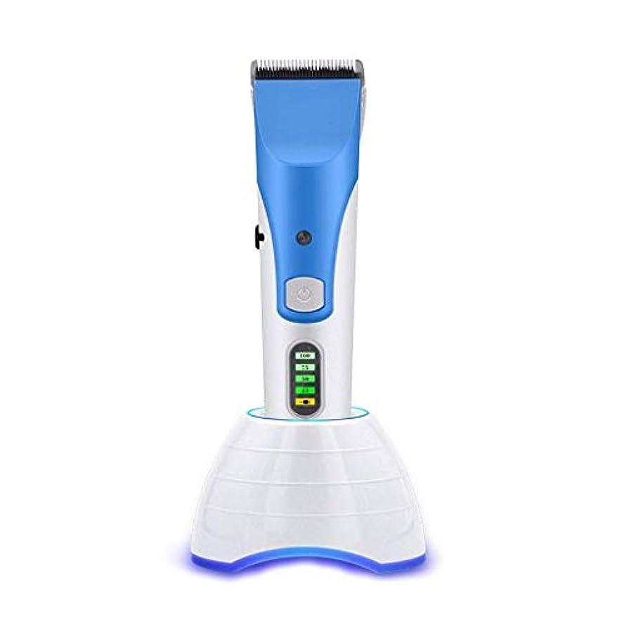 セットする電話をかける達成するBEIHUAN 理容室と家庭用LEDスクリーンディスプレイを持つ男性コードレス毛トリマーヒゲトリマー用バリカンプロのヘアクリッパーセット
