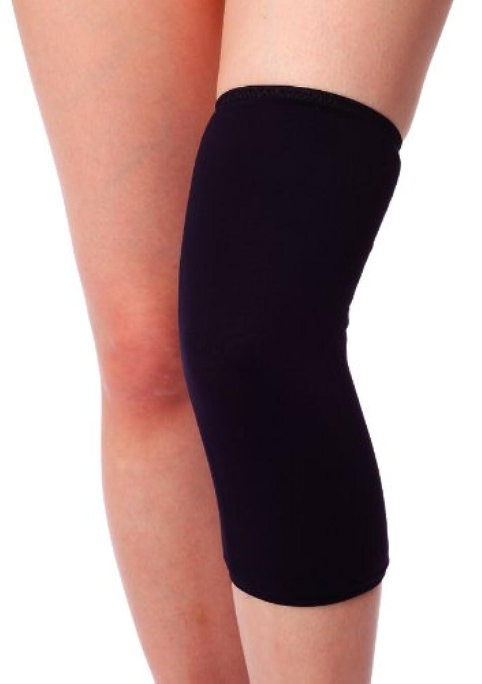 引き出すエールしばしばbonbone 発熱ウォーマー ひざ用 ブラックL
