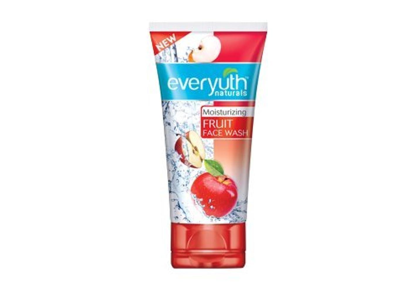 立方体伝染性の酸っぱいEveryuth Naturals Moisturizing Fruit Face Wash (50 g)