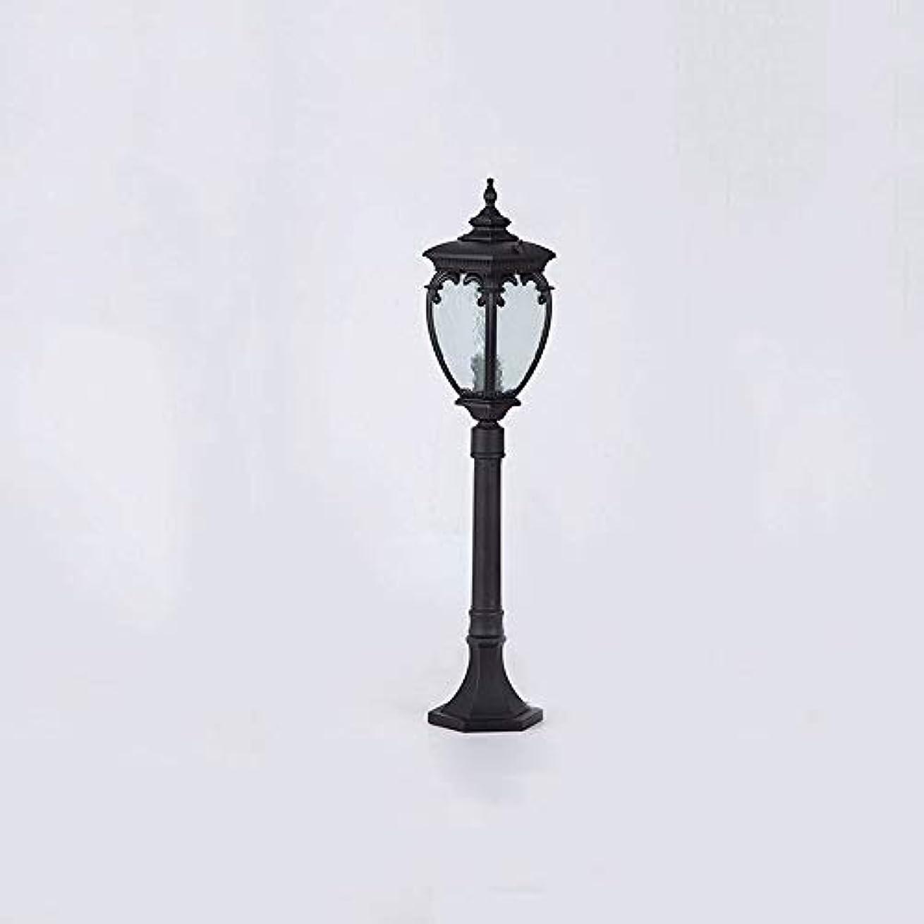 ソケット最初篭Pinjeer ヴィンテージ黒高さ87センチe27屋外街路灯ライトヨーロッパアンティークip54防水金属アルミガラス柱ライトコミュニティガーデン芝生風景装飾列ランプ