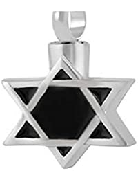 STAR OF DAVID Cremation Urnネックレスステンレススチール