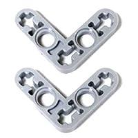 LEGOブロック・純正パーツ<テクニック・リフトアーム>3 x 3 L型 (薄) (2個, Light Bluish Gray) [並行輸入品]