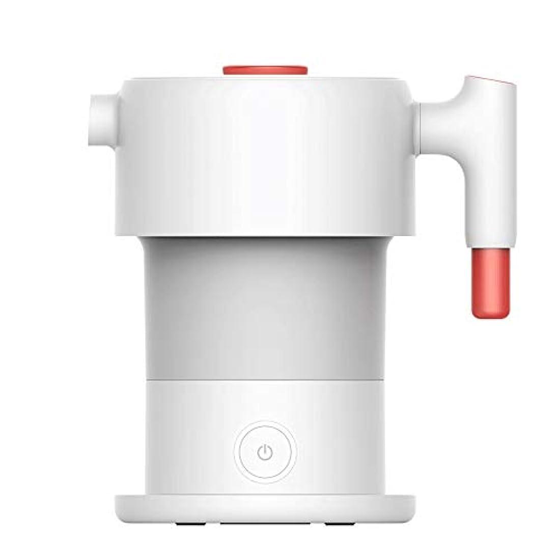 服を着る日の出増幅器SHIJIAN 0.6L折り畳み式の電気ポット、キャンプ旅行やオフィスでの使用のためのシリコーンの折りたたみ携帯用高速沸騰ウォーターケトル