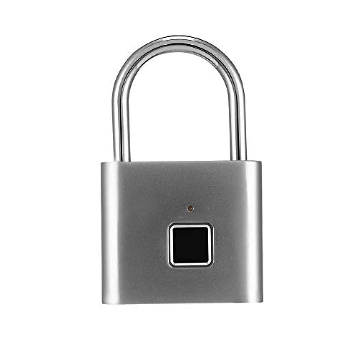 やりがいのある顎トランク組み合わせ南京錠、スマートキーレス指紋ロック指紋認識USB充電式盗難防止ロック、スーツケース用指紋南京錠荷物スーツケースは、10セットの指紋を保存できます