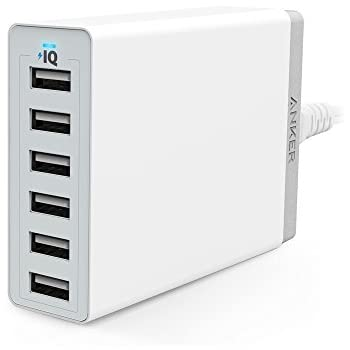 Anker PowerPort 6(60W 6ポート USB急速充電器) iPhone / iPad / iPod / Xperia / Galaxy / Nexus / 3DS / PS Vita / ウォークマン他対応 【PowerIQ搭載】(ホワイト)