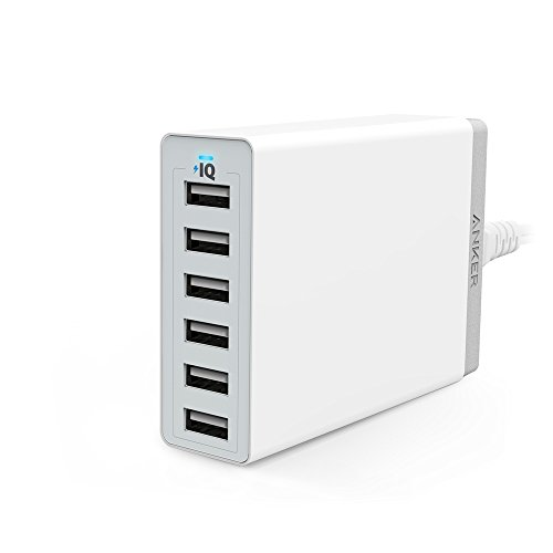 Anker 60W 6ポート USB急速充電器 iPhone / iPad / iPod / Xperia / Galaxy / Nexus / 3DS / PS Vita / ウォークマン他対応 【PowerIQ搭載】 (ホワイト) A2123522