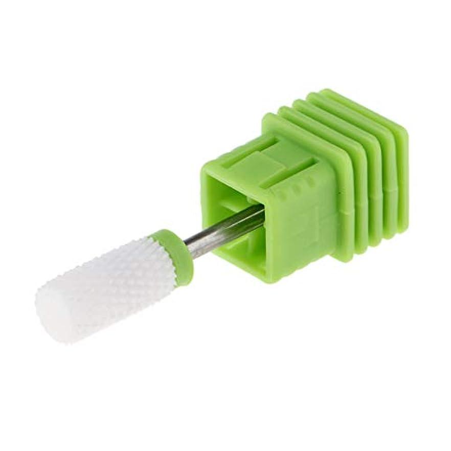 クロール限界開梱セラミック 研磨ヘッド ネイルドリルビット 電気ネイルマシン マニキュア用 全6選択 - C