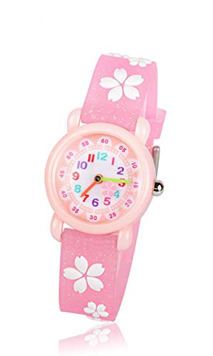 子供用 腕時計 TANOKI 女の子 ウォッチ かわいい アナログ表示 防水 桜 ガールズ 入園 入学 お祝い 誕生日 プレゼント ピンク