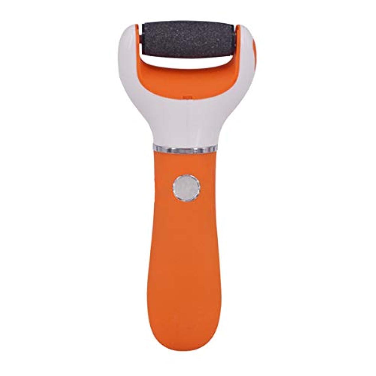 デコラティブ主バンケット電気足ファイルデバイスの充電式電気ペディキュアデバイスは、たこのペディキュアの楽器を剥離します,Orange