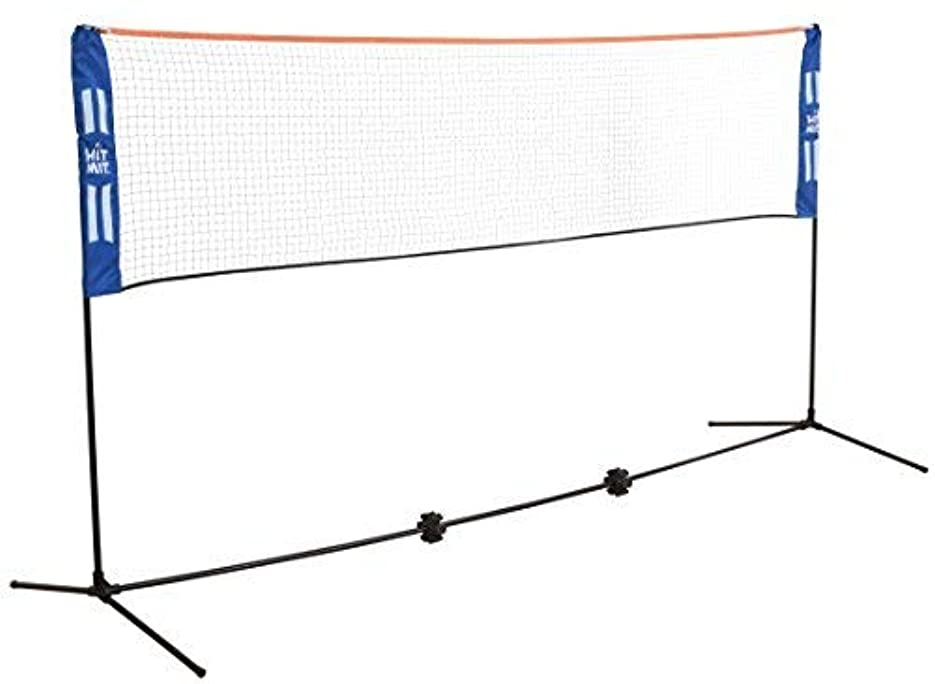 現実評論家独裁Hit Mit Adjustable Height Portable Badminton Net Set - Competition Multi Sport Indoor or Outdoor Net for Playing Pickleball, Kids Volleyball, Soccer Tennis, Lawn Tennis - Easy and Fast Assembly [並行輸入品]
