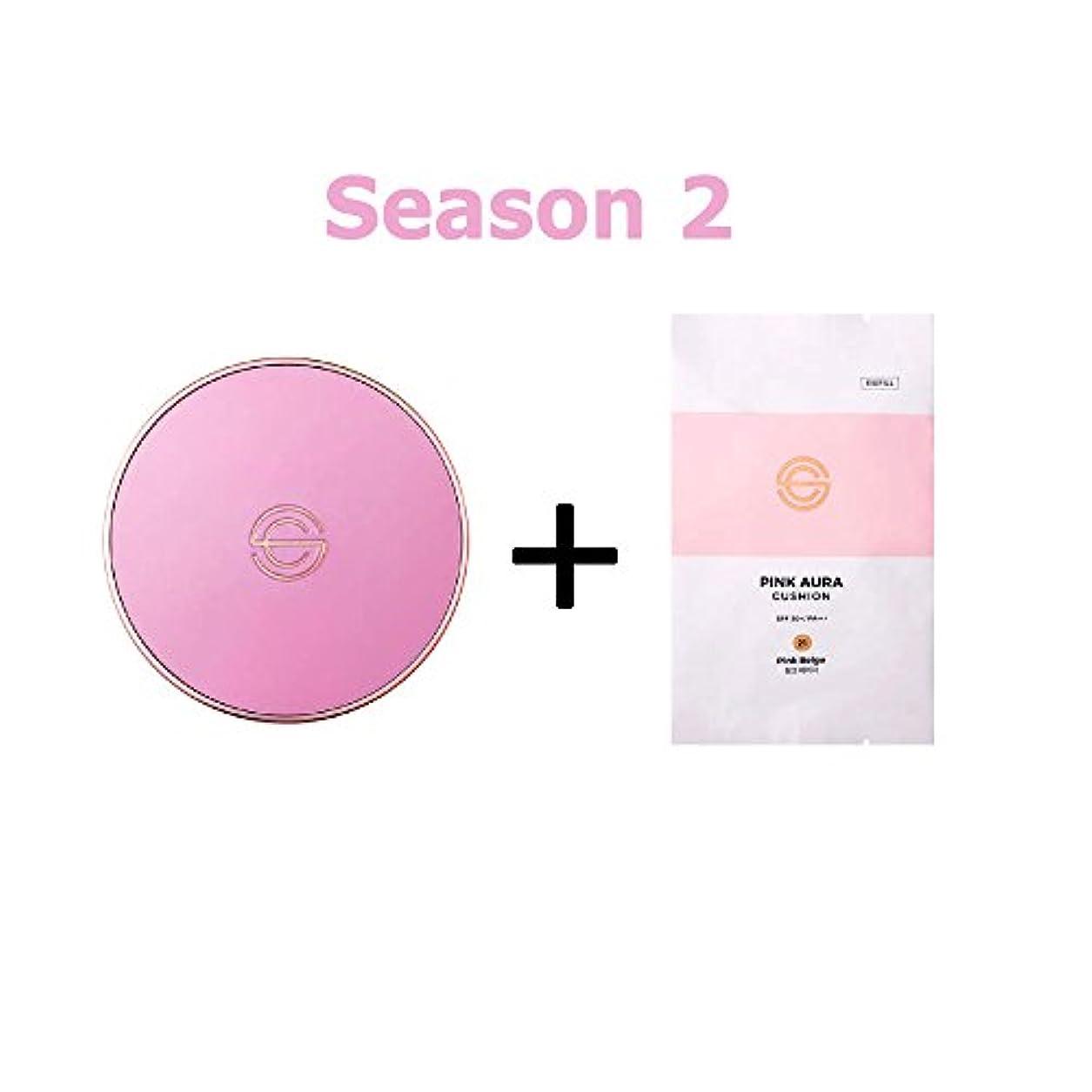 伝導率有名安全[Season 2] DPC Pink Aura Cushion 15g + Refill 15g/DPC ピンク オーラ クッション 15g + リフィル 15g (#21 Pink Beige) [並行輸入品]