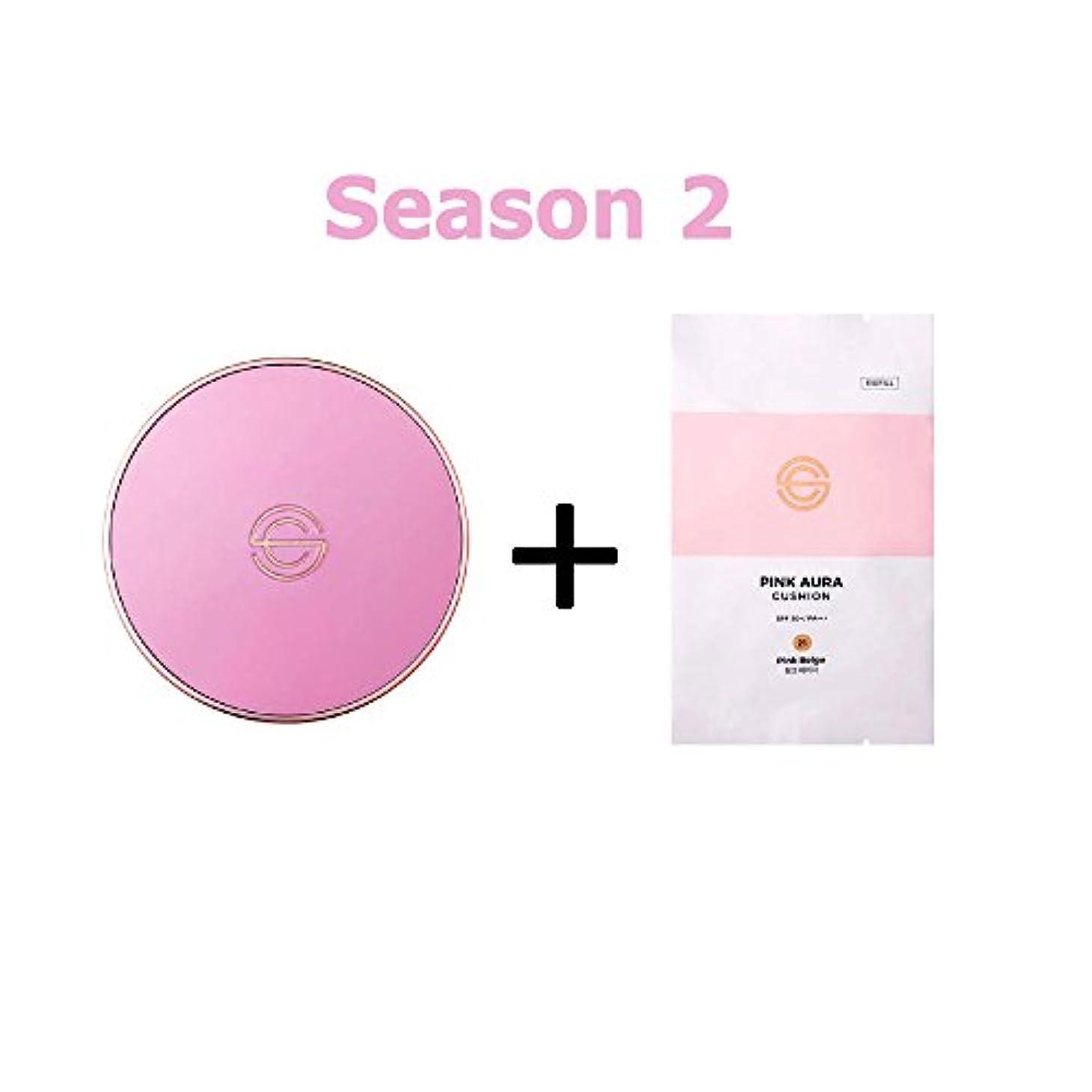 崇拝する王子サルベージ[Season 2] DPC Pink Aura Cushion 15g + Refill 15g/DPC ピンク オーラ クッション 15g + リフィル 15g (#21 Pink Beige) [並行輸入品]