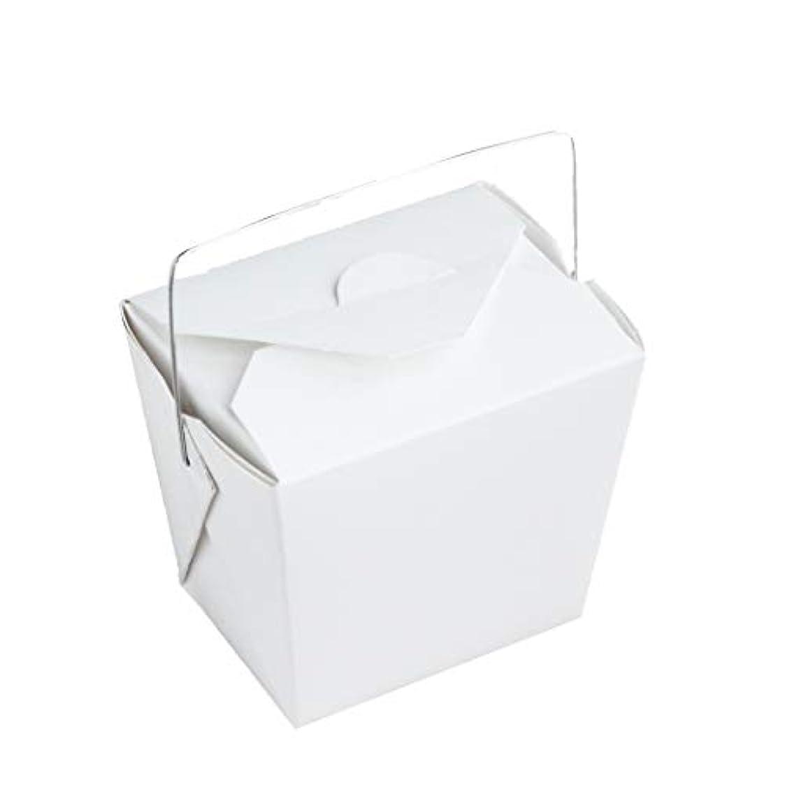 財布喪簡潔な手作り石けん用 ワイヤー取っ手付きホワイトペーパー型 10個