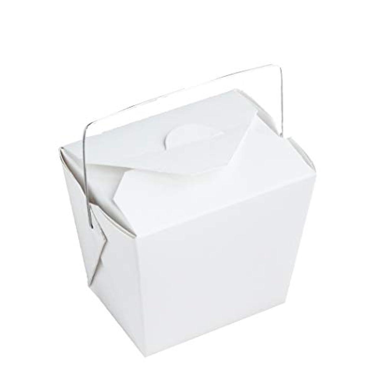 元の普通にしゃがむ手作り石けん用 ワイヤー取っ手付きホワイトペーパー型 10個