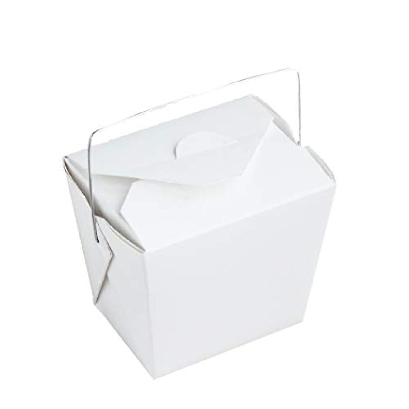 ハッピースズメバチ驚き手作り石けん用 ワイヤー取っ手付きホワイトペーパー型 10個