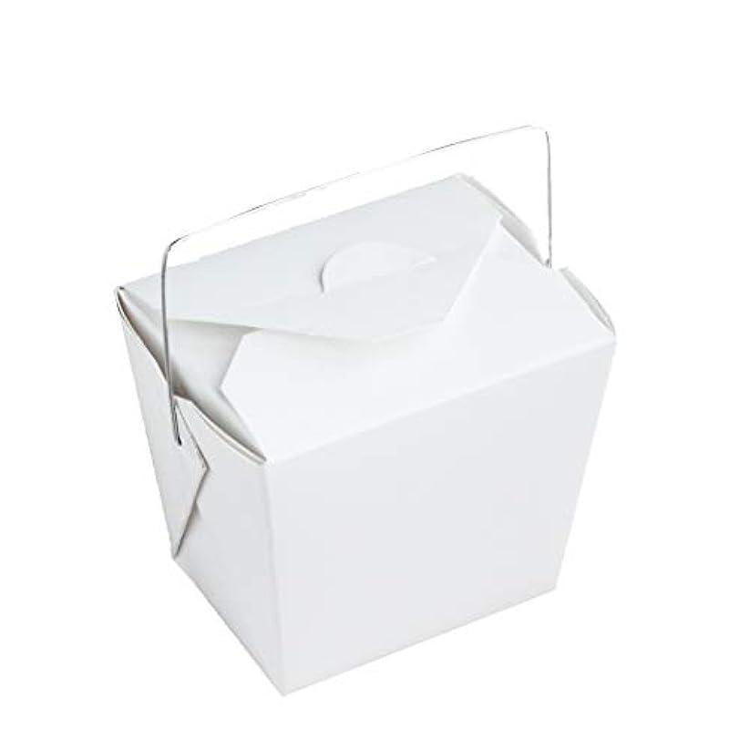 メアリアンジョーンズ光沢のある均等に手作り石けん用 ワイヤー取っ手付きホワイトペーパー型 10個