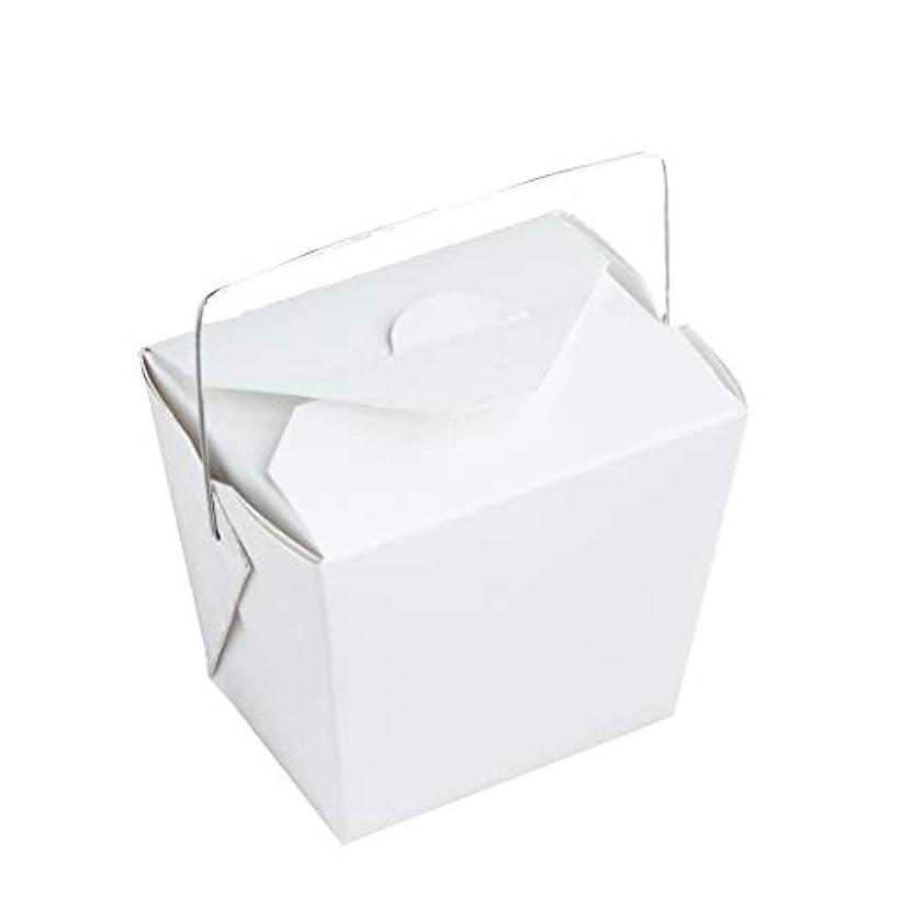 アコードカーテン納税者手作り石けん用 ワイヤー取っ手付きホワイトペーパー型 10個