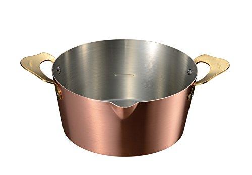 オークス ameiro 両手鍋 銅 揚げ物 18cm COS8005