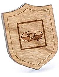 Giant Isopodラペルピン、木製ピンとタイタック|素朴な、ミニマルGroomsmenギフト、ウェディングアクセサリー