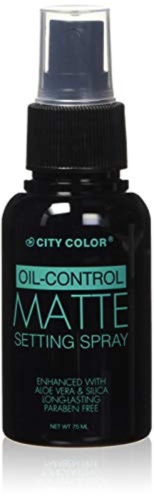 ぴったり虚栄心起きるCITY COLOR Oil Control Matte Setting Spray (並行輸入品)