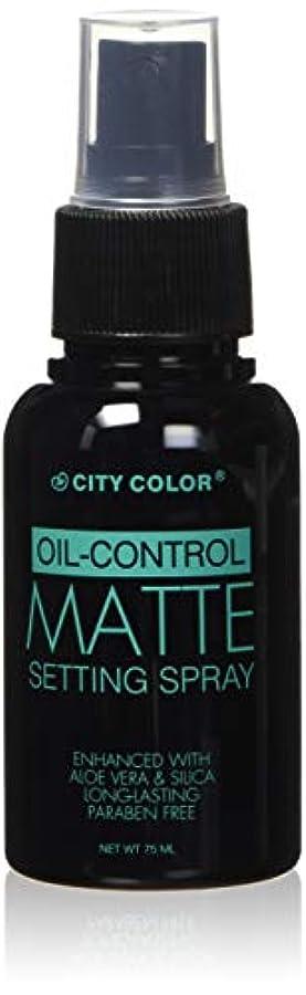 の間で生産性曲線CITY COLOR Oil Control Matte Setting Spray (並行輸入品)