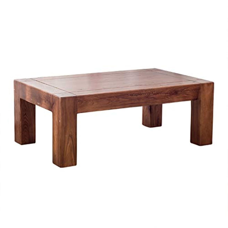 接続梨足音コーヒーテーブル家庭用畳テーブルバルコニー出窓茶テーブル多機能ソリッドウッドテーブル寝室ベッドテーブルコンピュータデスクギフト (Color : BROWN, Size : 50*50*30CM)