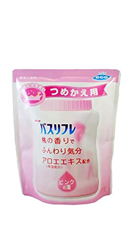 特異性印象的な音楽を聴くバスリフレ 薬用入浴剤 ピンクの湯 桃の香りでふんわり気分  天然保湿成分配合 つめかえ用 医薬部外品 540g