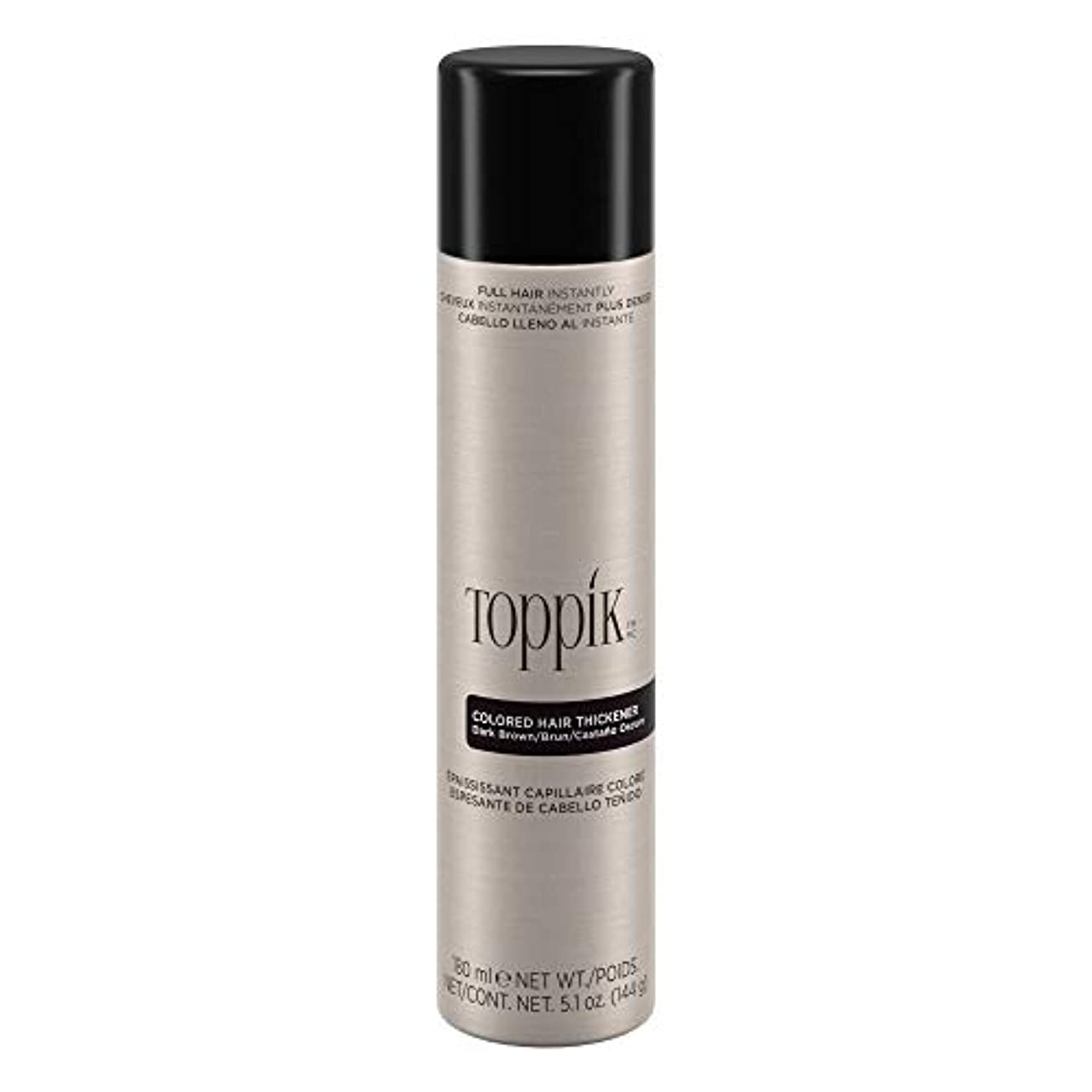 変色する細分化する千TOPPIK 色の髪増粘剤、5.1オンス ダークブラウン