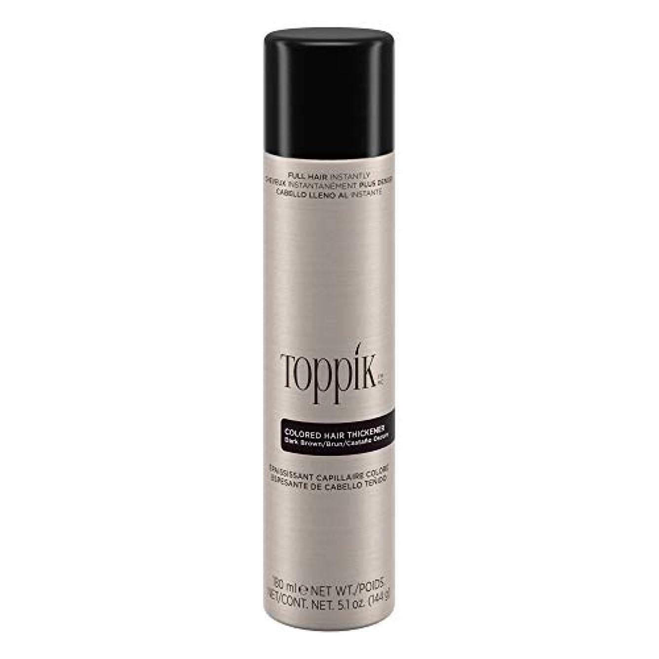 寝室を掃除するビジネスずるいTOPPIK 色の髪増粘剤、5.1オンス ダークブラウン