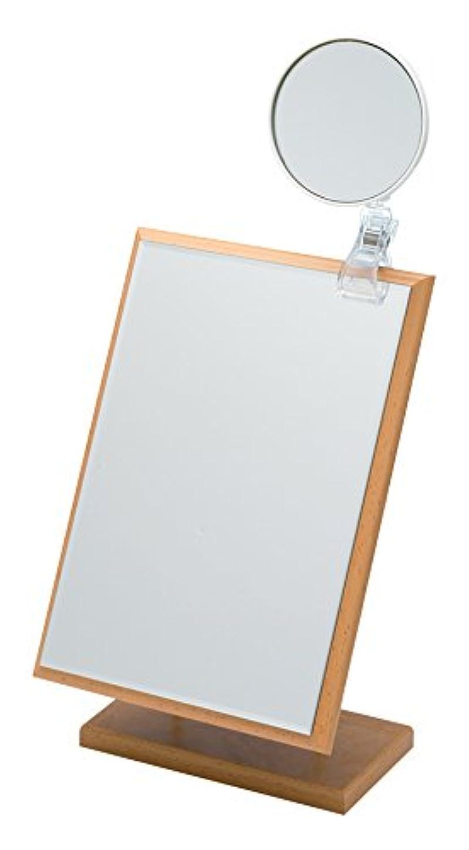 ホールドうつ識字5倍拡大鏡付き ナピュア アジャスタブルスタンドミラー