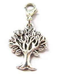 Tree of Life Charm - Tree of Life Charm Clip - Keychain Charm - Zipper Pull - Bracelet Charm (Tree 1.8cm)