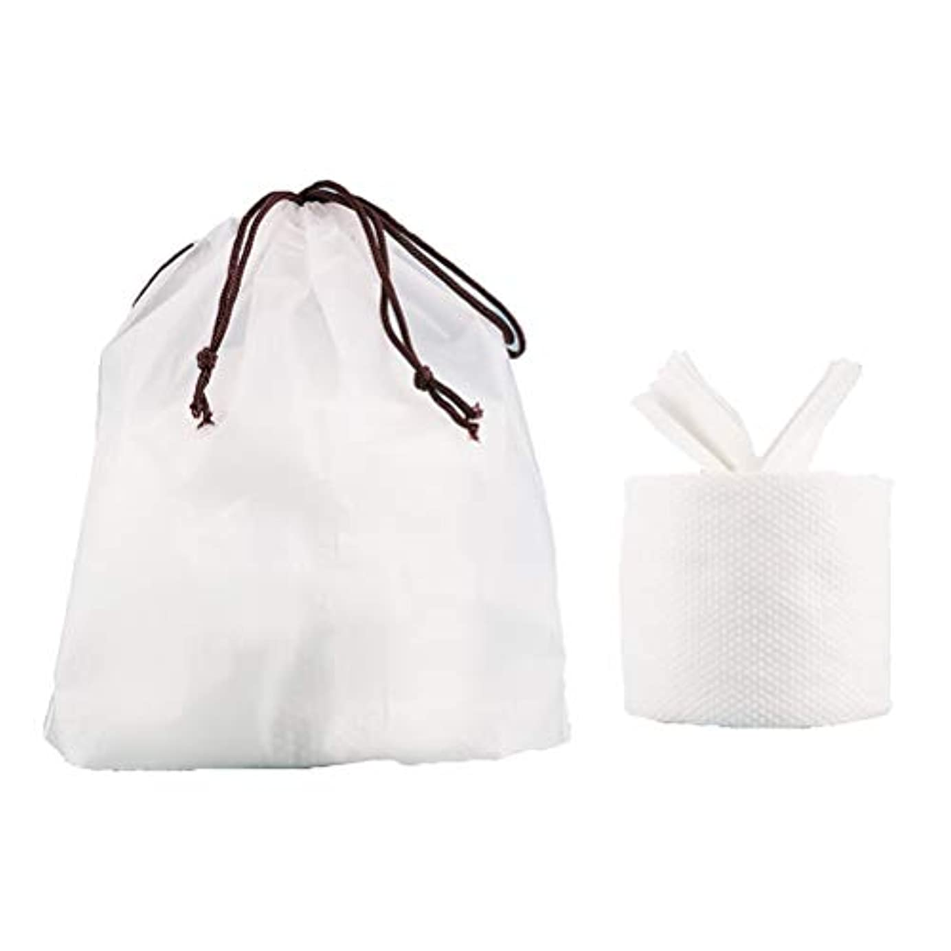 普遍的な目を覚ます既にHealifty フェイシャルコットンティッシュトラベルコットンタオルクレンジングワイパーウォッシュクロストラベルポータブルワイプ女性用(1ロールフェイスタオル+ 1個収納バッグ)