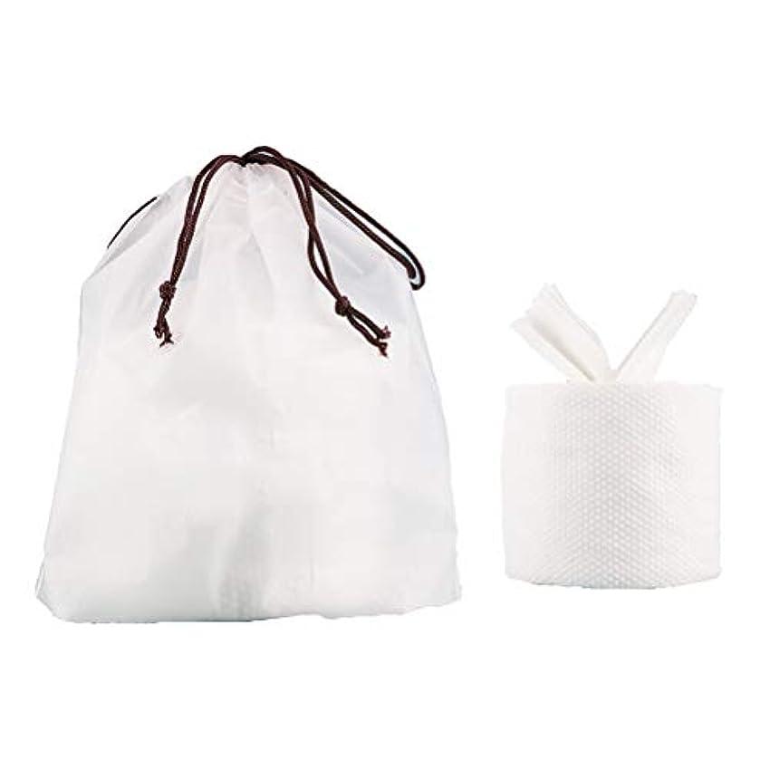 Healifty フェイシャルコットンティッシュトラベルコットンタオルクレンジングワイパーウォッシュクロストラベルポータブルワイプ女性用(1ロールフェイスタオル+ 1個収納バッグ)