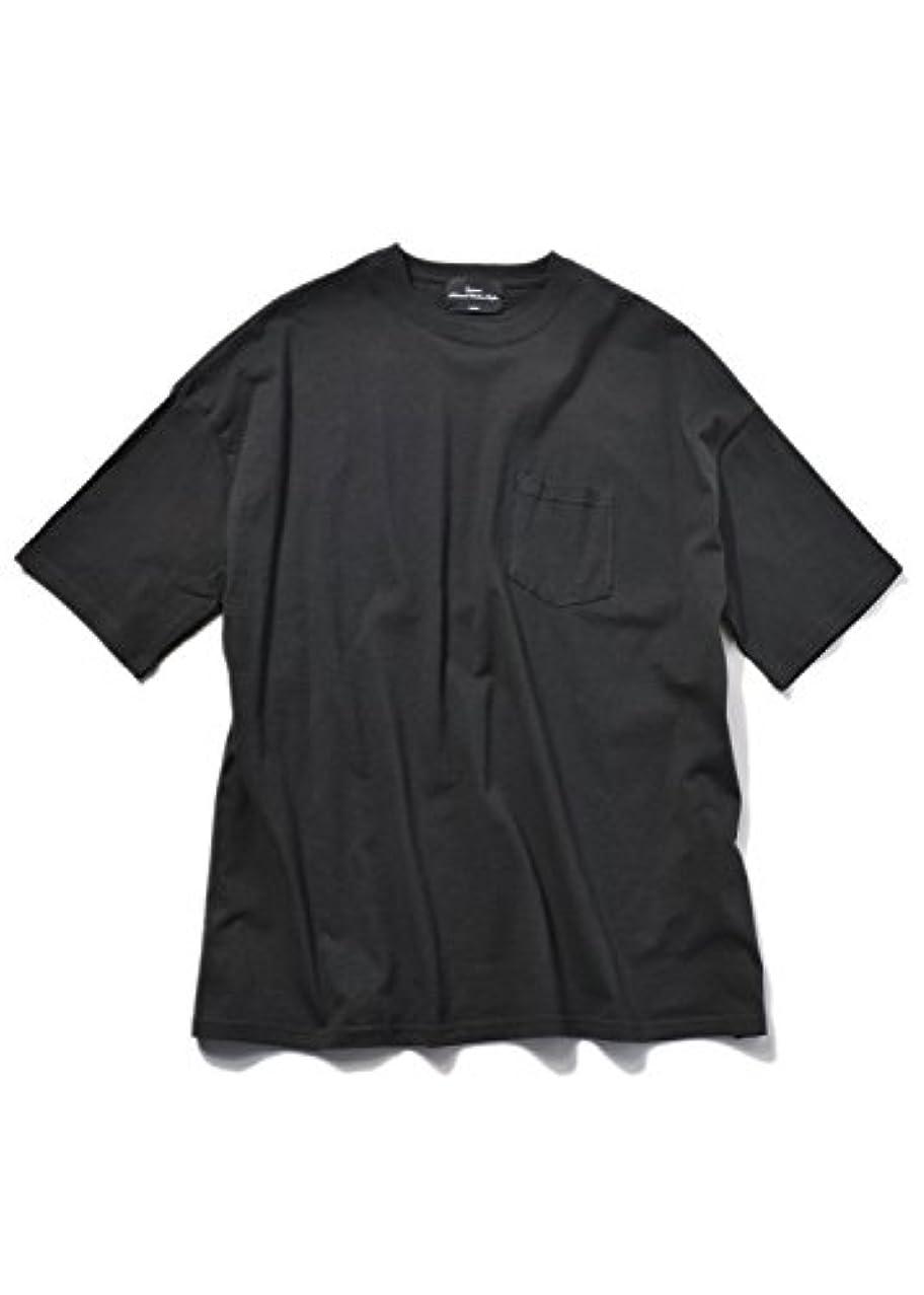 リード雄弁家発症SPINNS ポケット付きドロップカラーTシャツ