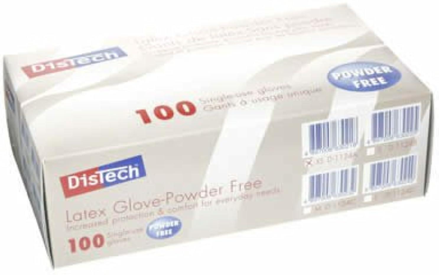 透明にカルシウムこねるD-1124AディステックラテックスグローブPF ポリマー加工 XS寸 100枚/箱