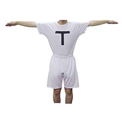 コスプレ お笑い グッズ ジョーク 【TT兄弟】【白Tシャツ&ハーフパンツセット】【XL】 /C12/ FBA