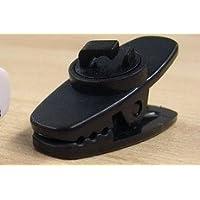 Sound Wave【 Amazon即日出荷 】ヘッドフォン イヤホン固定用 しっかり挟めるコードクリップ 360度回転ヘッド 4個 ブラック 黒色 For iPhone6S/6S PLUS/6/6PLUS/5S/4S スマートフォン Xperia 携帯 EarPhone 360℃ round Clip Black 4Pieces 回転C Hi4B