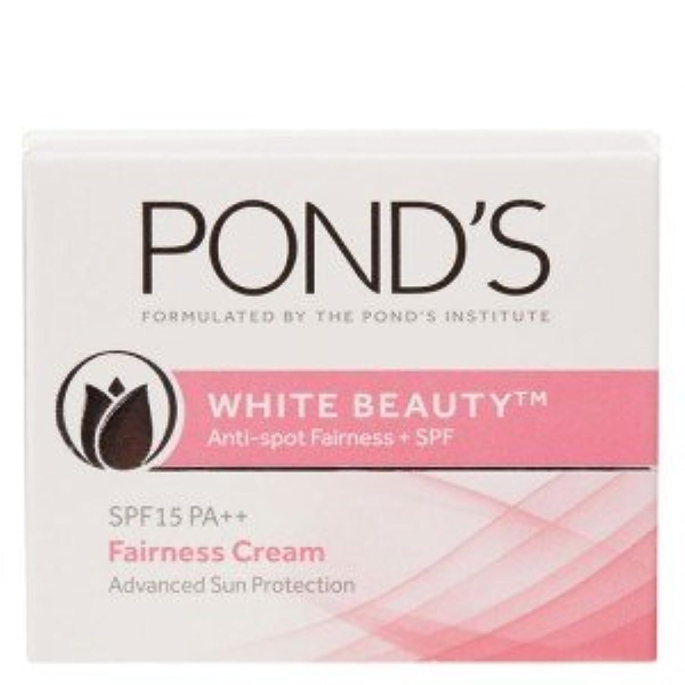 劇作家自然うなずくPonds White Beauty Anti Spot-less Fairness Cream SPF 15 PA++ (50gm)