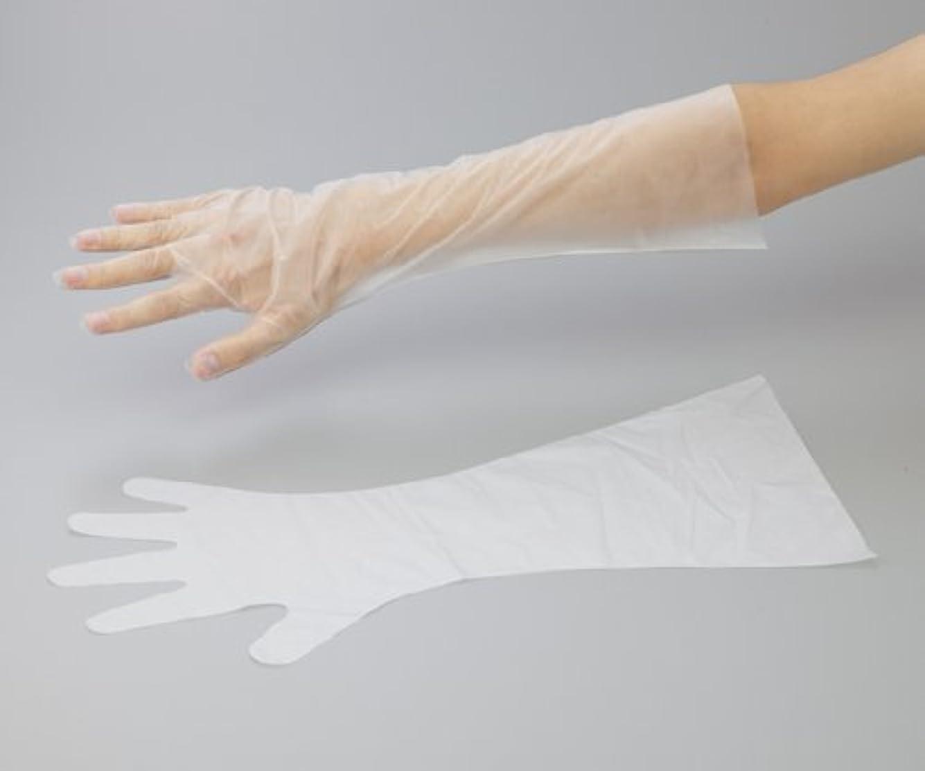 フロントレベル磨かれたアズワン6-9730-13サニーノール手袋エコロジー白ロングS100枚入