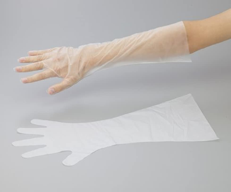 バトル閉じるリングレットアズワン6-9730-12サニーノール手袋エコロジー白ロングM100枚入