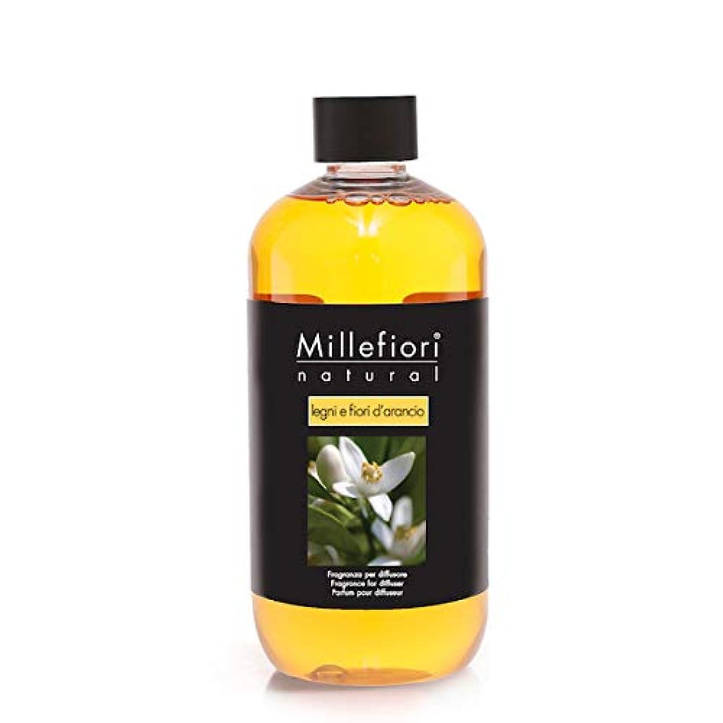 夢関税魅了するミッレフィオーリ(Millefiori) Natural レンニ エ フィオル ダランチョ(LEGNI E FIORE D'ARANCIO) 交換用リフィル500ml [並行輸入品]