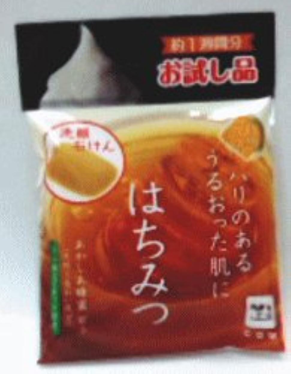 飲み込むマイクロプロセッサビルマ自然ごこち はちみつ 洗顔石けん トライアル 18g